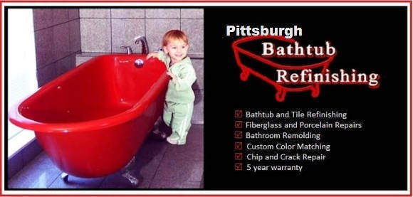 Pittsburgh Bathtub Refinishing | Bathroom Tile and Tub Reglazing | Shower Chip, Crack, and Discoloration Repairs | Pittsburgh and East Ohio