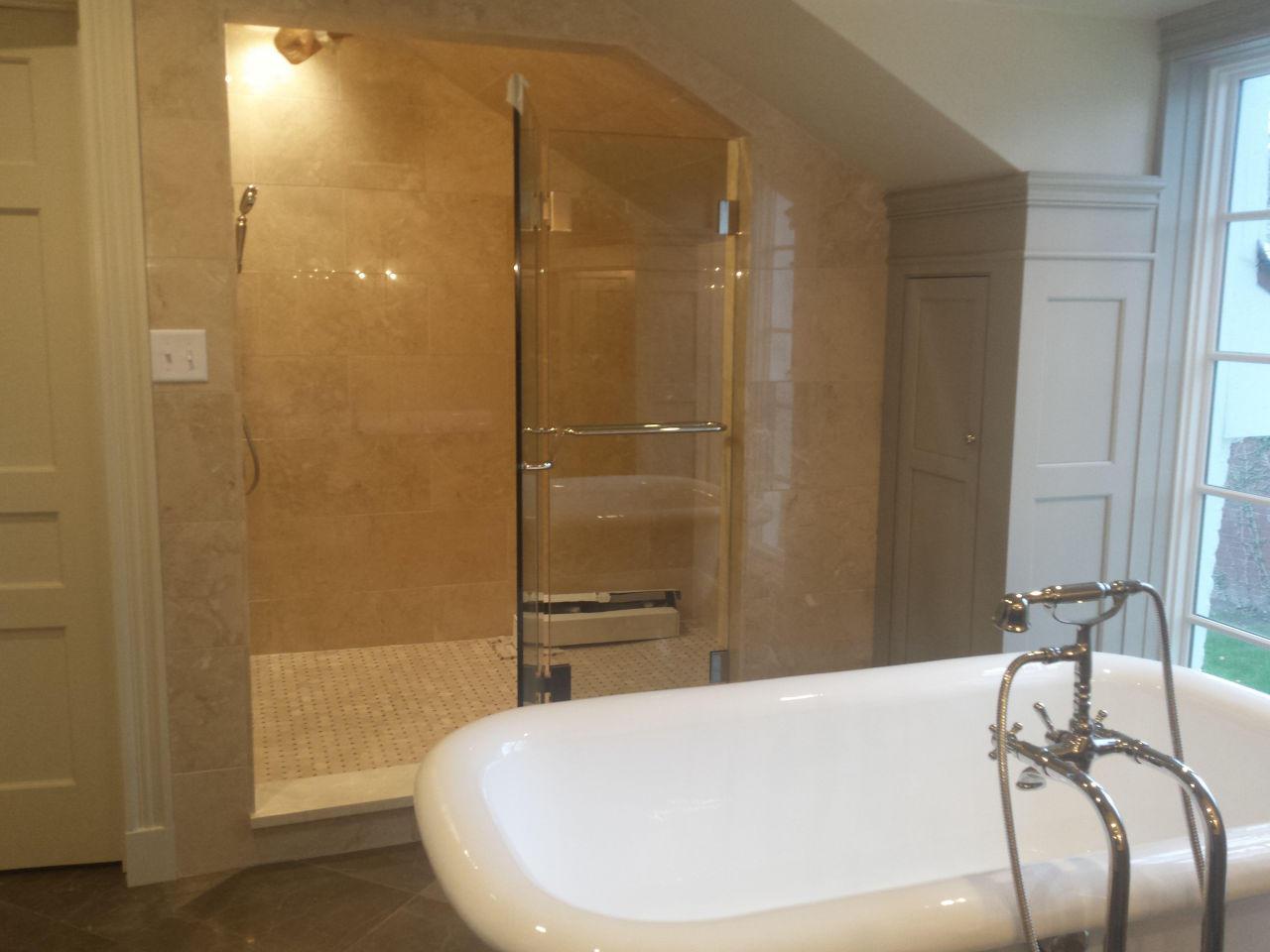 Remodeled Bathroom And Refinished Bathtub
